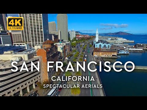 San Francisco, California, Downtown Aerials in 4K