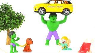 STRONG SUPERHERO SAVES THE KITTEN ❤ SUPERHERO BABIES PLAY DOH CARTOONS FOR KIDS