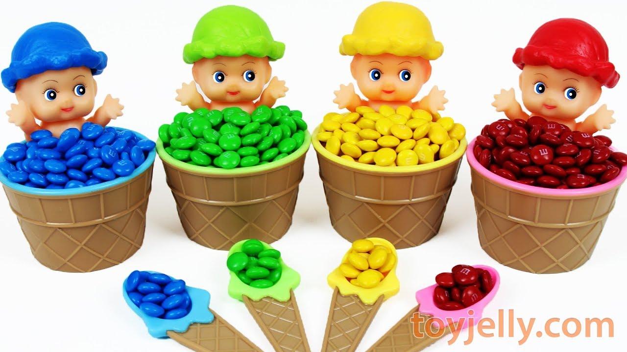 Super Kinder Joy Baby Doll M M Ice Cream Cup Surprise Toys