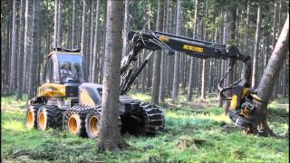 Repeat youtube video Ponsse Ergo 8w Harvester im Starkholz
