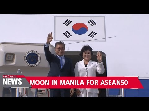 Moon lands in the Philippines for ASEAN summits after summit talks with Xi