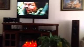 Home Made Entertainment Center And Home Theater