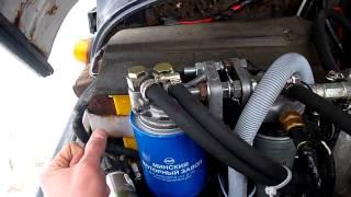 Мини обзор - УАЗ Hunter TD (Переносим топливный фильтр ЗМЗ - 514)