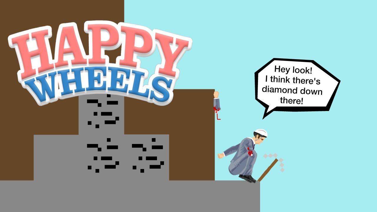 Happy Wheels Minecraft Jet Fall Youtube