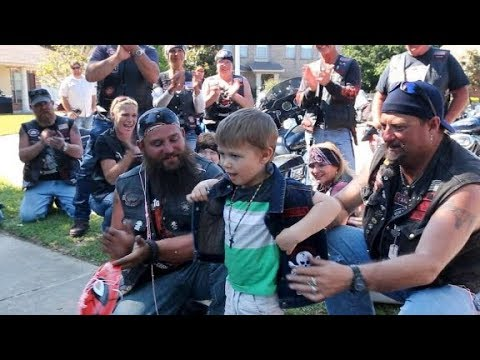 Victim of child abuse, mom welcome support from motorcycle group