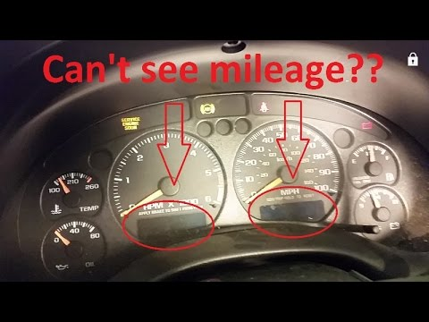 How To Fix Non Working Odometer And Gear Selector Display Chevy S10 Blazer Silverado