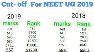 NEET cut off and rank NEET cut off enalisis 2019