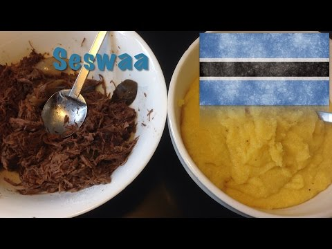 How to cook Seswaa with Phaletšhe (The Botswana dish)