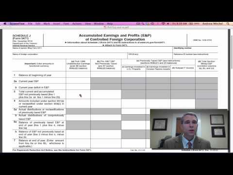 Irs Form 5471 Schedule J
