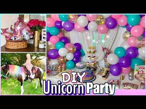 DIY UNICORN PONY PARTY