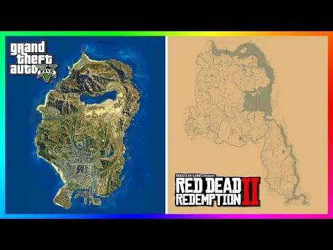 taille carte red dead redemption 2 How BIG Is The Red Dead Redemption 2 Map Compared To The Grand