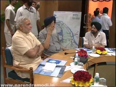 Punjab CM Parkash Singh Badal meets Narendra Modi