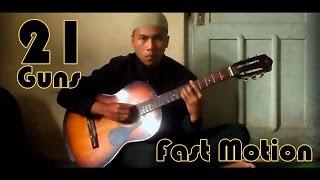 GUITAR cover  21 Guns (finger style)