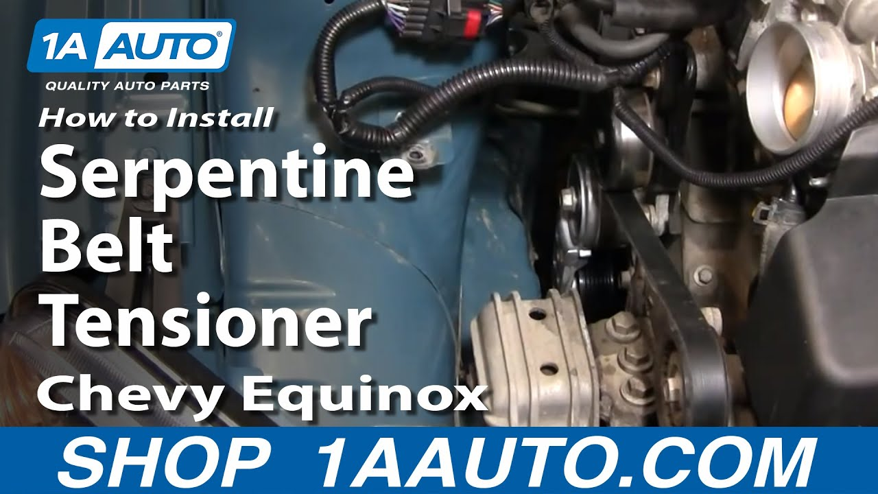 How To Replace Serpentine Belt Tensioner 05 09 Chevy