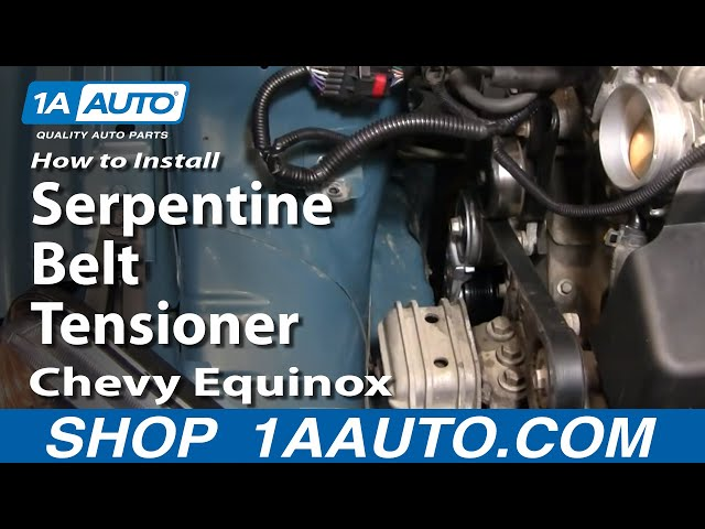 how to replace serpentine belt tensioner 05-09 chevy equinox | 1a auto  1a auto