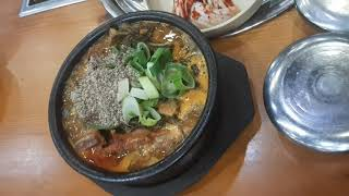 조마루 감자탕 - 뼈다귀해장국 + 밥 3공기