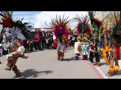 Aztec dance at Gathering of Nations 2016