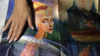 """""""Королева"""" от """"Новой Слободы"""". Обзор одного из красивейших наборов ( частичная вышивка бисером)."""