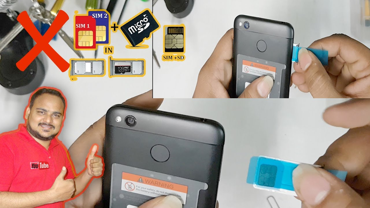 How to Remove Stuck SIM CARD from any Phone || Do't Try Dual Sim & SD Card  on Xiaomi Redmi mobiles