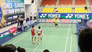 Clip trận đôi nam giữa Yong Kai Terry Hee/Hendra Wijaya gặp Fachriza Abimanyu/Hendrik K Clinton