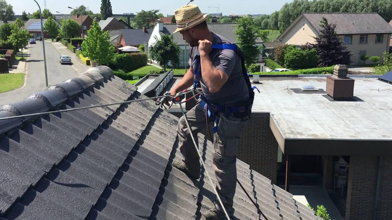 Voorkeur Plaatsen van dak coating op sneldek pannen - YouTube FI38