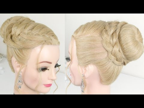 Braid Styles For Long Hair | Braided Prom Updo Tutorial
