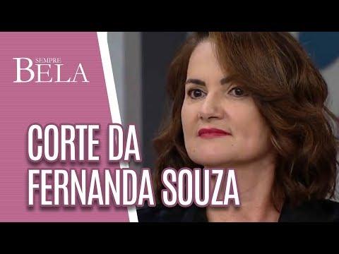Transformação| Corte De Cabelo Fernanda Souza - Sempre Bela (06/05/18)