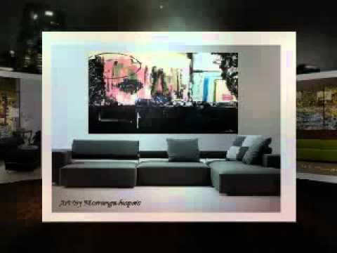 Contemporary Abstract Modern Art MIxed Medias Techniques
