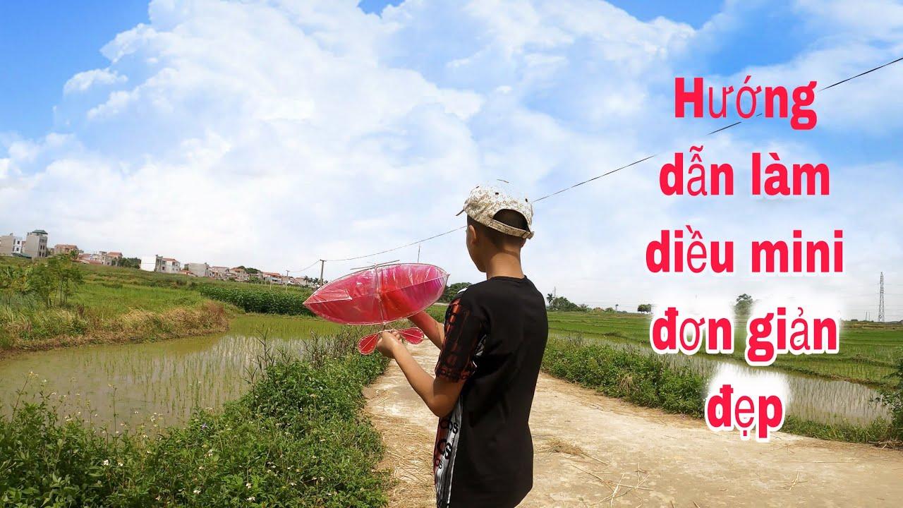guide to making kites mini | hướng dẫn làm diều sáo mini đơn giản đẹp Tặng Các Em Nhỏ | Ba Sói TV