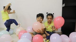 تحدي البالونات لولو ضد أنس!!