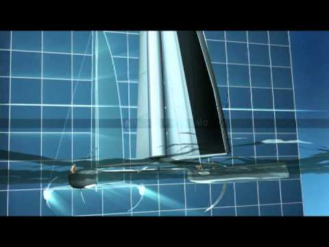 The 34th America's Cup AC72 class rule 3D animation flyaround