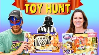 TOY HUNTING for Blind Bags Frozen Shopkins WWE Superheroes Disney Princess Palace Pets Pixar Cars