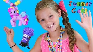 MY LITTLE PONY & MINION Homemade Toy Necklaces Do It Yourself - Learning at DCTC Summer Camp!