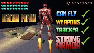 HOW TO BE IRON MAN with COMMAND BLOCKS!!! - Minecraft PE TUTORIAL