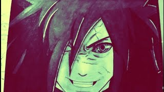 How to Draw Uchiha Madara | Naruto Shippuden