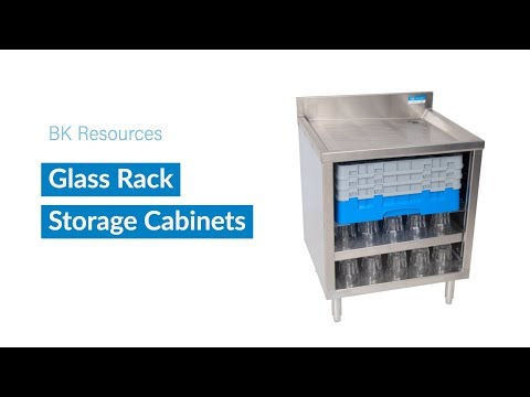 BK Resources Glass Rack Storage Cabinets - BKUBGC