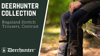 Deerhunter Rogaland Stretch Trousers Brown Leaf contrast