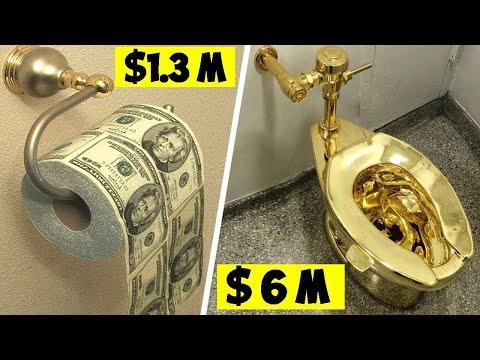 حمام مصنوع من الذهب بالكامل , شاهد كيف ينفق الأغنياء ملياراتهم  - 15:51-2020 / 2 / 10