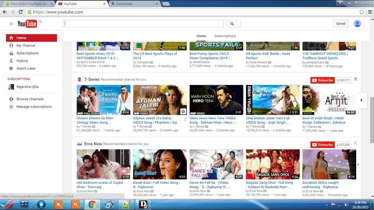 download youtube video through url
