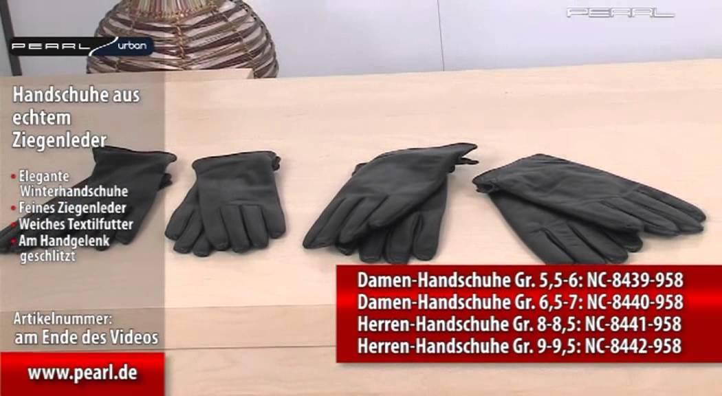 Damen Echt Leder Handschuhe Gefüttert Gr S 6,5 M 7 L 7,5 XL 8 XXL 8,5 //130