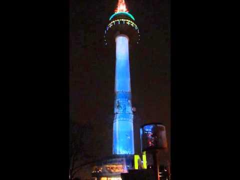 Espectáculo de luces en la N-Tower de Seúl. I