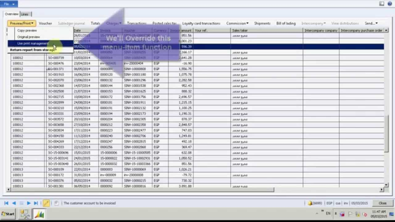 AX 2012 Print Multiple Invoices Directly To Printer   YouTube  How To Print Invoices