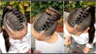 Peinado Para Ninas Trenzas Cruzadas Con Trenza Pull Trough Peinados