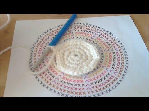 Cours de crochet n 31 comment lire 1 diagramme rond faire 1 rond plat youtube - Comment faire un scoubidou rond ...