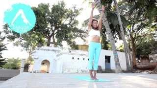 Laruga Glaser. Ashtanga Yoga Demo in Mysore (part1)