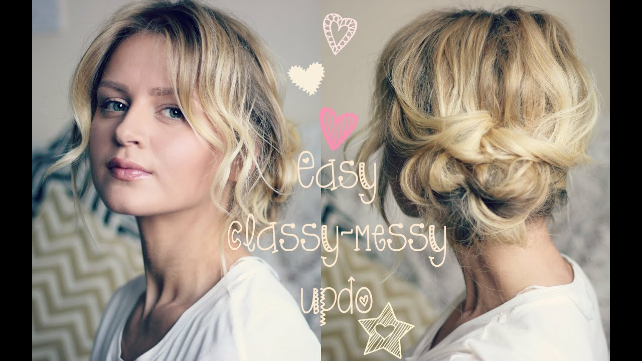 Easy Classy Messy Updo Hd Youtube