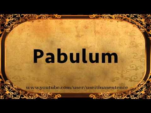Use PABULUM in a Sentence
