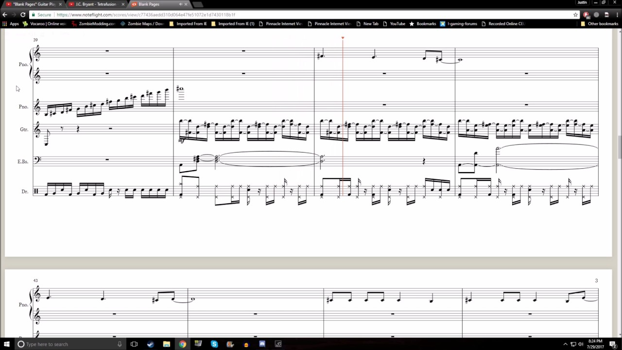 sheet music pages