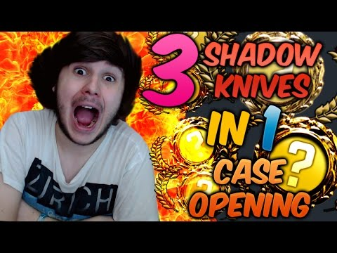 3 SHADOW KNIVES IN 1 CASE OPENING OMG !