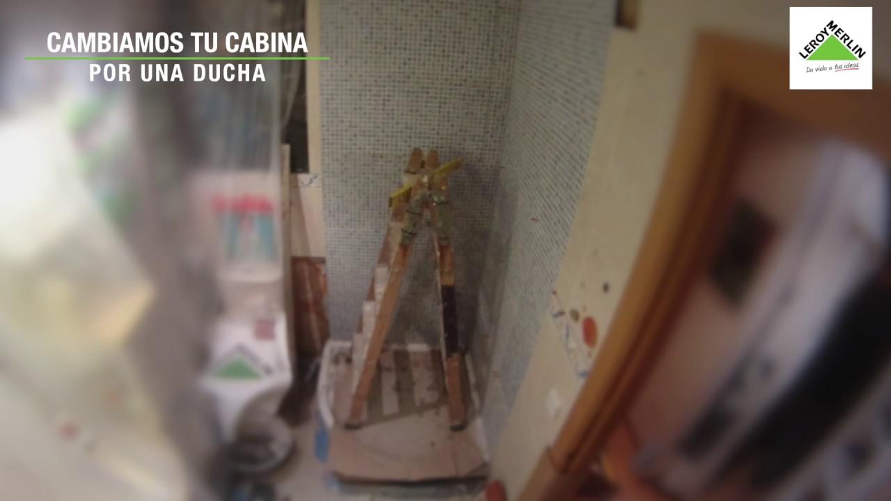 C mo cambiar una cabina por una ducha leroy merlin youtube for Cambiar banera por ducha leroy merlin